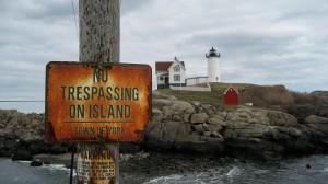 A lighthouse near York, Maine