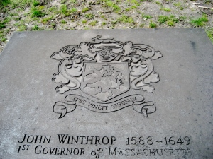John Winthrop's grave