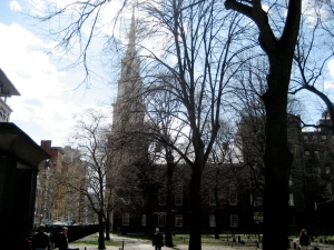 Old Granary Burying Ground, with Park Street Church