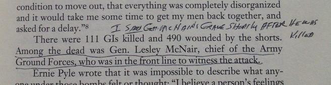 Lesley McNair was killed July 25, 1944 near Saint-Lô, France